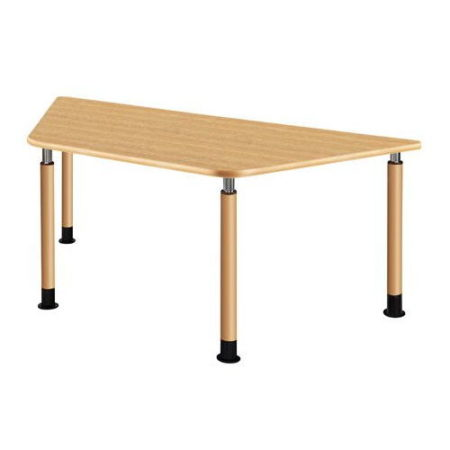 4本固定脚台形型テーブル