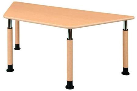 介護テーブル 天板上下昇降式 UFT-9018A 幅1800mm×奥行780mm×高さ596~796mm 台形テーブル