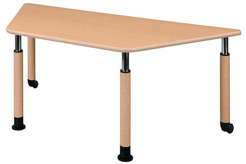 介護テーブル 天板上下昇降式 UFT-9018B 幅1800mm×奥行780mm×高さ596~796mm 台形テーブル