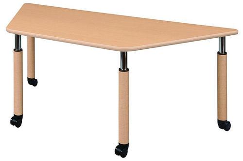 介護テーブル 天板上下昇降式 UFT-9018C 幅1800mm×奥行780mm×高さ596~796mm 台形テーブル